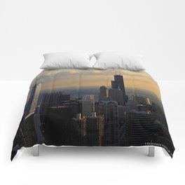 The Skyline at Dusk: From the Hancock (Chicago Architecture Collection) Comforters