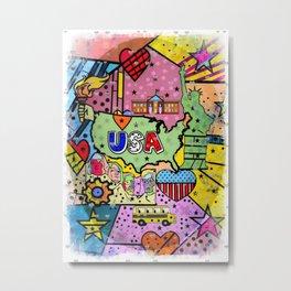 USA Popart 2018 by Nico Bielow Metal Print