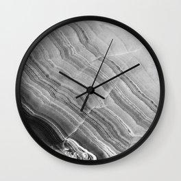 Shades of grey marble Wall Clock