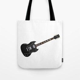 Black Electric Guitar Tote Bag