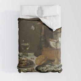 Pieter Claesz. - Still Life with a Turkey Pie Comforters