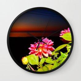 Flowers at Night Wall Clock