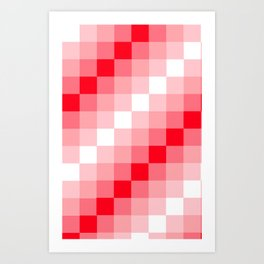 Design3 Red Art Print