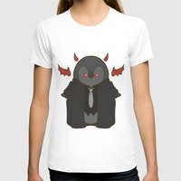 crowley T-shirts featuring Crowley Demon Penguin Supernatural by ParallelPenguins
