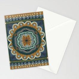 Winter Symmetric Pattern Stationery Cards