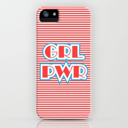 GRL PWR, Girl Power (red version) iPhone Case