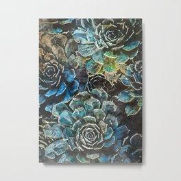 succulents flora art #succulents #flora Metal Print