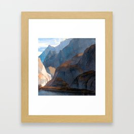 Francis Towne On the Lake of Como Framed Art Print