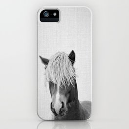 Horse - Black & White iPhone Case