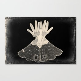 X-Ray of Vintage Gloves Canvas Print