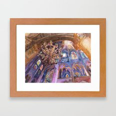 Notre Dame interior Framed Art Print