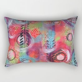 """Spinning!"" | Original painting by Mimi Bondi Rectangular Pillow"