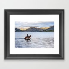Horse at Airds Bay Loch Etive Framed Art Print