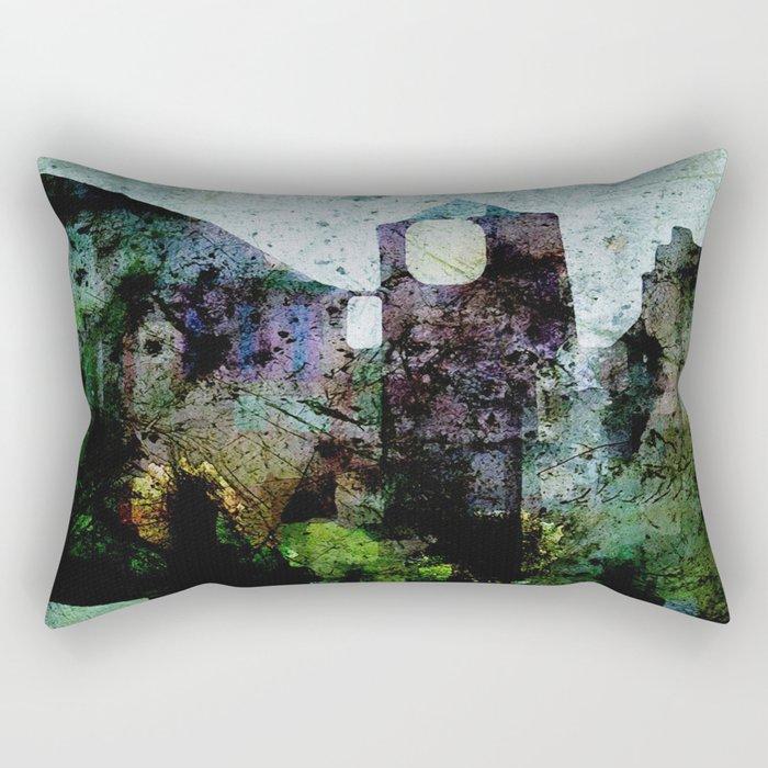 In the Castle Courtyard Rectangular Pillow