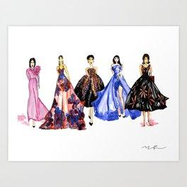 Designer Girls Art Print