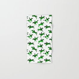 Watercolor Showjumping Horses (Green) Hand & Bath Towel