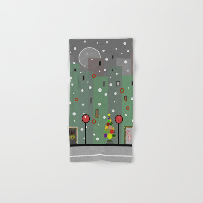 City Christmas Hand & Bath Towel