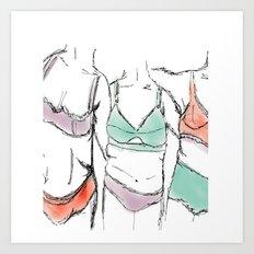 3 women 3 bodies 3lives  Art Print