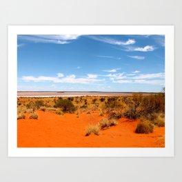 Outback Saltflats Art Print