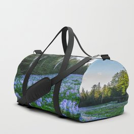 High Country Lupine - Purple Wildflowers in Montana Mountains Duffle Bag