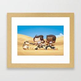 Starwars: JAKKU RUN  Framed Art Print