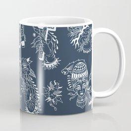 TRADITIONAL TATTOO PATTERN (DARK) Coffee Mug