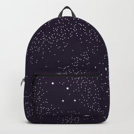 Universe with planets and stars seamless pattern, cosmos starry night sky 005 Backpack