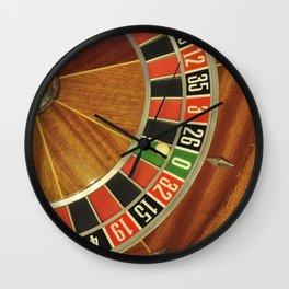 roulette wheel detail Wall Clock