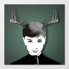 Bambi Hepburn (clean) Canvas Print