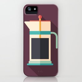 French Press Coffee iPhone Case