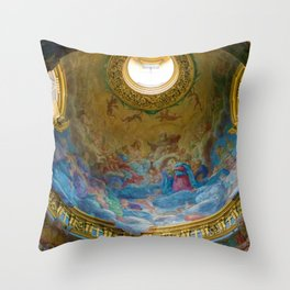 Frescoes of La Maddalena Cathedral, Rome, Italy Throw Pillow