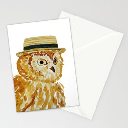 Dapper Owl or Owl Capone? Stationery Cards
