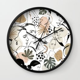 United women sketch Wall Clock