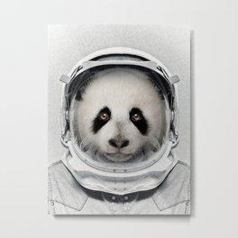 Astro Panda Metal Print