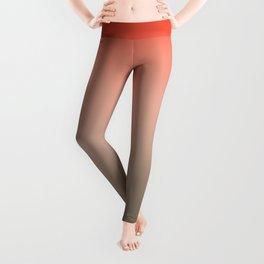 Bonaire - Colorful Classic Abstract Minimal Retro 70s Color Gradient Leggings