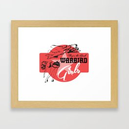 Warbird Girls Logo  Framed Art Print