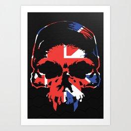 Union Jack Skull Art Print