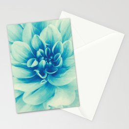Blue Beauty (Spring Blooming Dahlia) Stationery Cards