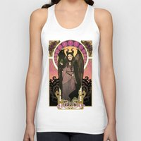 maleficent Tank Tops featuring Maleficent by Madeoftin