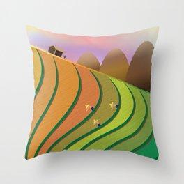 Terrace Fields Throw Pillow