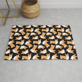 Crazy Corgis Cute Puppy Dog Pattern Rug