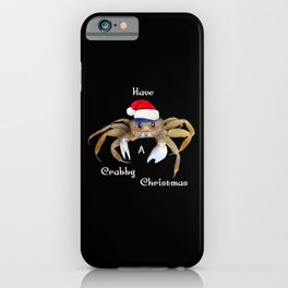 Crabby Christmas iPhone Case