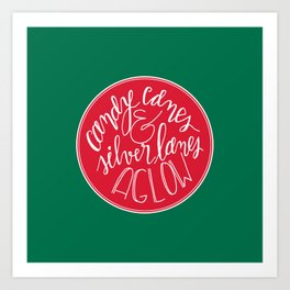 Candy Canes and Silver Lanes Art Print