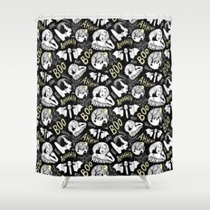 Classic Horror Halloween Shower Curtain