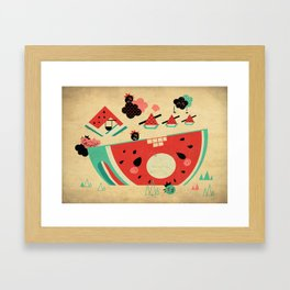 Watermelon Playground Framed Art Print
