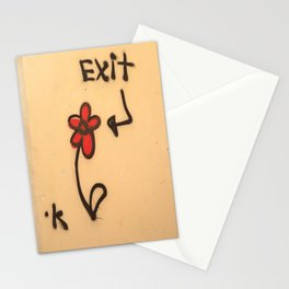 Exit Grafitti Flower Stationery Cards