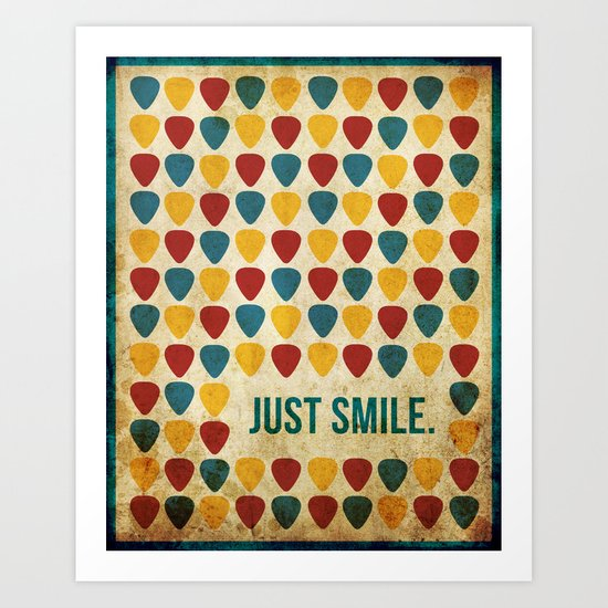 Just Smile. Art Print