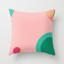 Abstract geometry print Throw Pillow