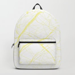 Paris France Minimal Street Map - White on Yellow Backpack