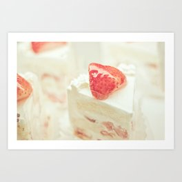 Hello Strawberries Art Print